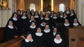 The nuns at Monastero Santa Maria delle Rose.  They look happy.