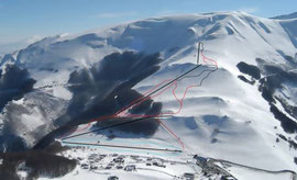 Ski runs at Pintura di Bolognola
