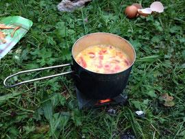 Camping-Topf ultraleicht Kochen Esbit-Kocher Trockenbrennstoff Gericht lecker Gesund Rucksack