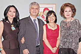 Business Mirror, Johan Straws society of the philippines (JSSP) Chairman and Monaco Consul General Fortune Ledesma, Ambassador Wilhelm Donko of Austria, Yan Donko and JSSP President Olga Severino Martel
