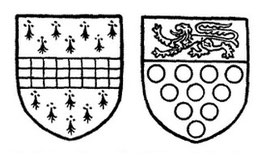 Left: Arms of Arden of Park Hall. Right: Bridgeman