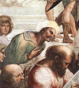 """Averroès, détail de """"L'Ecole d'Athènes"""" de Raphaël"""