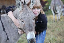offrir une balade avec un âne