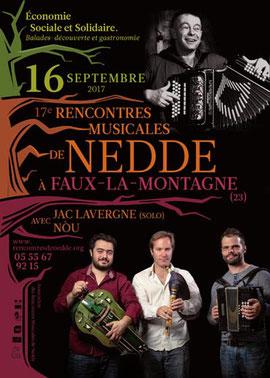 séjour à Vassivière en septembre / Rencontres musicales de Nedde