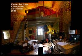 résidence d'artiste à la Ferme des Ânes de Vassivière