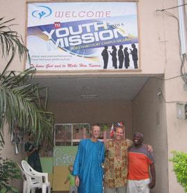 Eric standing with YWAM-Nigeria directors