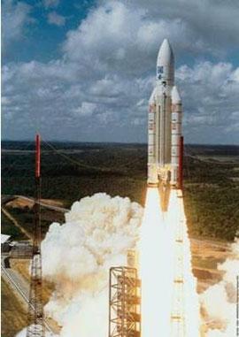 Ariane 5 au décollage de Kourou