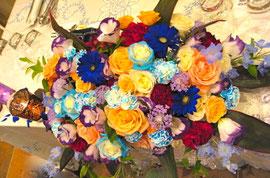 生花のブルーローズ