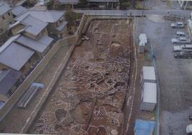 安威の寺院跡とみられる遺跡