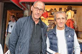 Philippe Burlet et Alain Prost à Gstaad