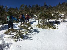 奥念丈岳の登り