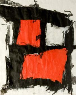 Karima Badr (c) - Ausbruch - Acryl auf Papier   40 x 50 cm, 2010