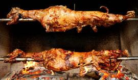 Мясо на вертеле. Кухня Хорватии.