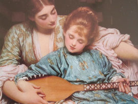 The Music Lesson by Frederick Lord Leighton 1877