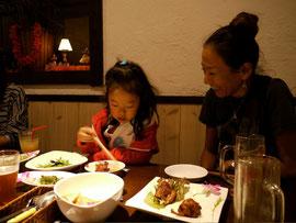 娘が大好きで、いつもお世話になっているAちゃん @Café HANAHOU