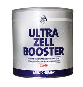 ULTRA-ZELL-BOOSTER Regenerationsdrink für Kraftsport Ausdauersport Bodybuilding Hochleistungssport Profisport Strongman Heinz Ollesch Kreatin Dextrose Medichemia Qualität Nahrungsergänzung