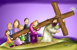 Jesús camino del Calvario