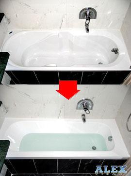 Sostituzione completa di una vasca da bagno a forte dei - Vasca da bagno sostituzione ...