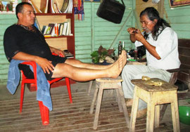 Tabakritual vom Schamanen Marcelo Vargas