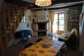 """""""La clède"""", the living room."""