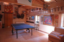 "The multifonction room ""La Grnge"" with its table ping-pong."