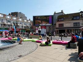 Olympische spelen 2012 , live op een groot scherm in Dover