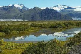 Skaftafell en de Vatnajökull gletsjer