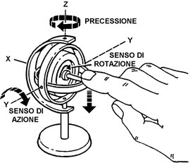 Figura 2.13 - Precessione giroscopica