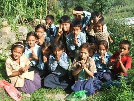 ラムチェ村の子供たち