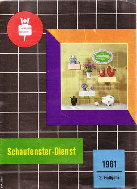Schaufenster Gestaltung (Sparkasse 1961).