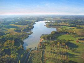 Lac de l'Uby, berceau des championnats de France Bateaux Courts