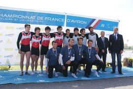 Podium FFSU 4x Hommes
