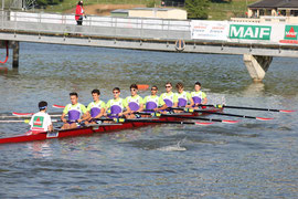 8+ Cadets Hommes (Paul TIXIER en 2ème position), vainqueurs de la Coupe de France