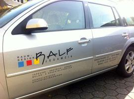 Fahrzeugbeschriftung Folientext