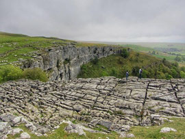 Limestone pavement at top of Malham Cove