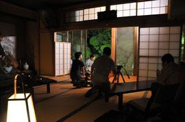 最福寺さんでの取材のときの様子です(東金茶道会の皆様の協力をいただきました)