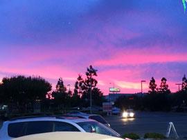 ある日のサンディエゴの夕焼け
