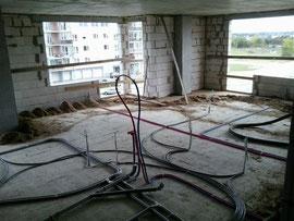 elektros instaliacija po grindimis