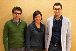 Das Sprecherteam 2015-2018: Jörg Müller (Sprecher), Lucia Kremer und Florian Wegscheider (Beisitzer). FOTO: Th. Roscher