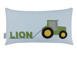 Kissen 45 x 25 Traktor Namenskissen