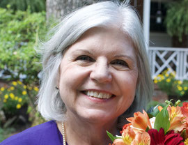 Author Diane Gaston against a blue sky