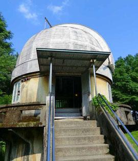 ▲国立天文台三鷹で最古の建物「第一赤道儀室」
