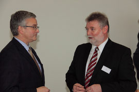 Landrat Roesberg und ich im Gespräch