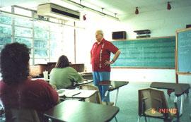 リードの音楽産業の授業風景。1989年3月、村上撮影