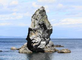沼 島 上立神岩