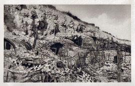 Der Steinbruch kurz nach der Schlacht