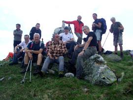Foto di gruppo in vetta al Guggilihorn m. 2351