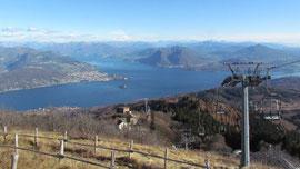 Verbania e il Lago Maggiore dalla vetta del Mottarone m. 1491