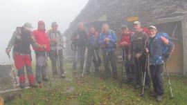 Foto di gruppo all'Alpe San Giacomo