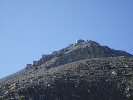 La vetta del Monte Chaberton m. 3115